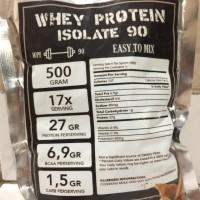 Whey Protein Isolate WPI90 Murah Rasa Coklat 500gram