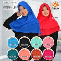 Jual Hijab Siffon / Khimar / Jilbab / Khimar Pet 3 Layer Murah