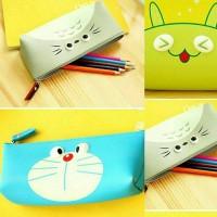 Jual Pencil Case Disney/ Tempat Pensil Dorameon Alien Totoro Cat Murah