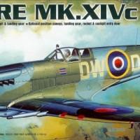 Model Kit Pesawat Tempur Inggris Perang Dunia 2 Spitfire MK.XIVc 1/72