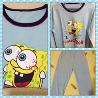 Jual 1Set Baju-Celana Tidur Anak SpongeBob Murah