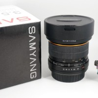 Jual Lensa Fisheye Samyang 8mm f3.5 CS for Canon, Komplit, Supermulus Murah