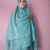 Jual khimar ceruty two layer Limited Murah