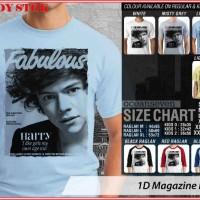 Jual 1D Magazine Harry - BAJU KAOS DISTRO PRIA WANITA ANAK OCEAN SEVEN Murah