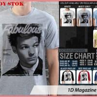 Jual 1D Magazine Louis - BAJU KAOS DISTRO PRIA WANITA ANAK OCEAN SEVEN Murah
