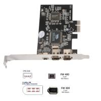 FIREWIRE 400 IEEE 1394A PCI-EXPRESS 2 port 6 pin + 1 port 4 pin