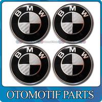 Jual Emblem BMW Black White Carbon 68mm Murah