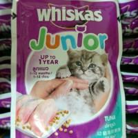 Jual Makanan Kucing Whiskas Junior Pouch Tuna 85gram Murah