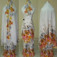 Jual mukena bali standar motif bunga jepun mukena batik Murah