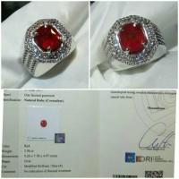 Jual Batu Blood Red Ruby No Heat 2.96 crt Murah