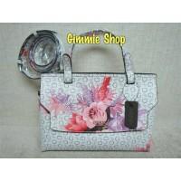 Jual Handbag sling bag wanita original guess flower putih tas selempang Murah