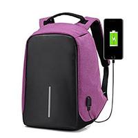 Jual Anti Theft Backpack / Smart Back Pack cuci Gudang purple Murah