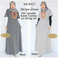 Jual HV2925 Baju murah mono stripe dress KODE BIS2979 Murah