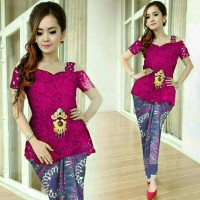 Jual HV440 Set Pink Kebaya Batik Songket Kartika KODE BIS494 Murah