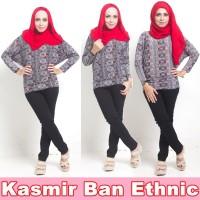 Jual HV10110 Baju Atasan Muslim Wanita KASMIR BAN ETHNIC KODE BIS10164 Murah
