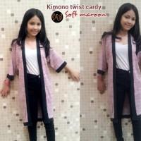 Jual HV7885 Kimono Twist Cardy Soft Maroon KODE BIS7939 Murah