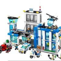 LEGO City Police Station motorbike helicopter/BRICKS/BUILDING BLOC*