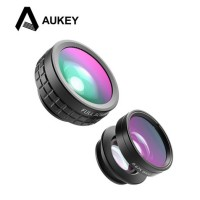 Jual AUKEY 180 Degree Fisheye Lens + Wide Angle + Macro Lens 3 in 1 PL-A1 Murah