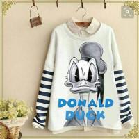 Jual AD1562 white duck stripe sweater KODE Gute1428 Murah