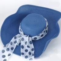 Jual OP1875 Topi Pantai Korea Import Dengan Pita Ribbon J KODE Bimb2352 Murah