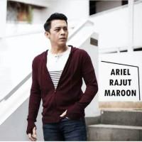Jual OP3904 Cardigan Ariel Rajut Maroon KODE Bimb4381 Murah