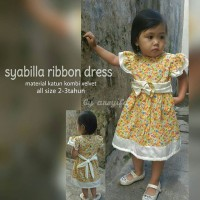Jual KP644 Syabilla ribbon dress bisa custom KODE TYR700 Murah