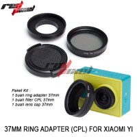 Jual 37MM RING ADAPTER KIT (CPL) FOR XIAOMI YI Murah
