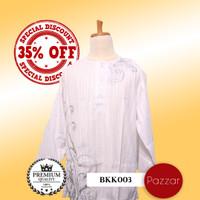 Jual Baju Koko Putih Bersih Motif Modern - Disc.35% - BKK003 Murah