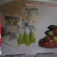 Jual alat dapur 7 in 1dan wadah kitchen utensil set with stand Murah