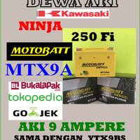 Aki KAWASAKI NINJA 250 FI Motobatt MTX9A AKI GEL Bebas RAWAT YTX9BS GS