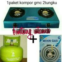 Jual kompor paket gmc stenlis+tabung+isi+selang paket winn,aman&hemat Murah