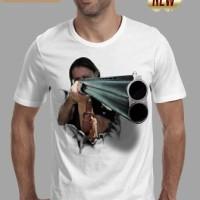 grosir kaos 3d gun t shirt tshirt3d senjata laras panjang distro baru