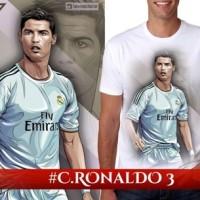 Jual t shirt bola ronaldo,tshirt bola ronaldo,kaos pria 3d bola ronaldo cr7 Murah