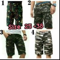 Jual celana pendek / short pants pria cowok cargo army tentara murah  Murah