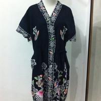 Jual Kimono batik kencana ungu pendek / daster kimono kencana ungu / kimono Murah