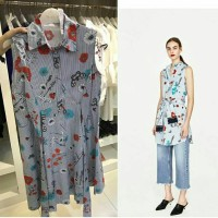 Jual Mini Dress Stripe n Flower Dress Murah