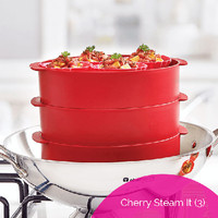 Jual Tupperware Cherry Steam it 3 Tingkat alat kukus multifungsi serbaguna Murah