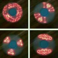 Spinner Krom Chrome Lampu Led Tulisan-Gambar I Love U - Diskon