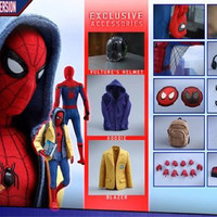 Jual Hot Toys Spiderman Homecoming Deluxe Version Hottoys Murah