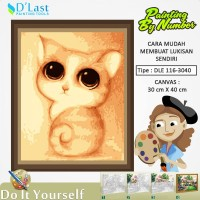 Jual Painting By Number (DLE-116-3040)/Lukisan/kanvas/kuas/cat air/frame Murah