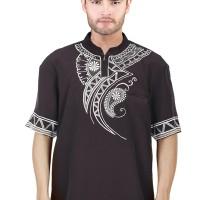 Jual OP3357 Inficlo SDR 668 Baju Koko Batik PriaCoklat KODE Bimb3834 Murah
