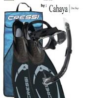 Cressi Set Snorkeling Pluma Black Edition