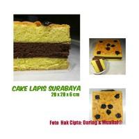 Jual Roti Cake Kue Bolu Lapis Surabaya Super Wangi Butter Premium 20x20x6Cm Murah