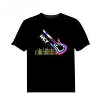 T-Shirt Sound Activated Light Up and down Equalizer led