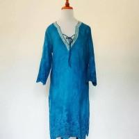 Jual Gaun panjang dengan gaya v-neck berpayet Murah