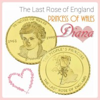 Jual Koin The Last Rose of England Princess Diana Commemorative Coin Murah