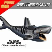 Ghost Zombie Shark PG1008 Pirates of the Caribbean Brick Minifigure