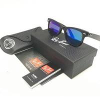 Kacamata Rayban WAYFARER 2140 Black w/ Blue Lens