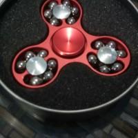 Jual 49 - fidget spinner Red bola besi kelereng murah bagus keren impor Murah