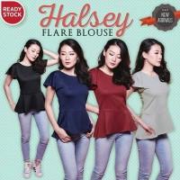 Jual HALSEY FLARE BLOUSE peplum baju kerja atasan wanita murah Murah